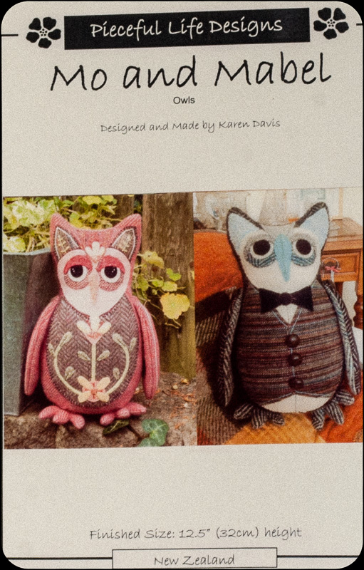 "Donegal Tweed by Fabric Affair: ""Mo The Owl Kit""."