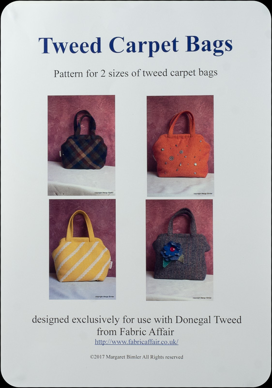 Donegal Tweed by Fabric Affair - Tweed Loop Bag Pattern