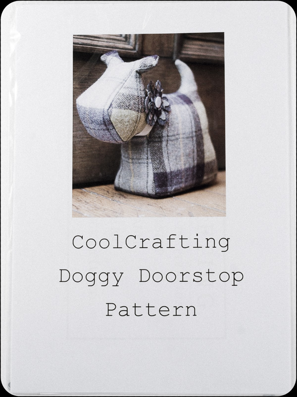 Donegal Tweed by Fabric Affair - Doggy Doorstop Pattern