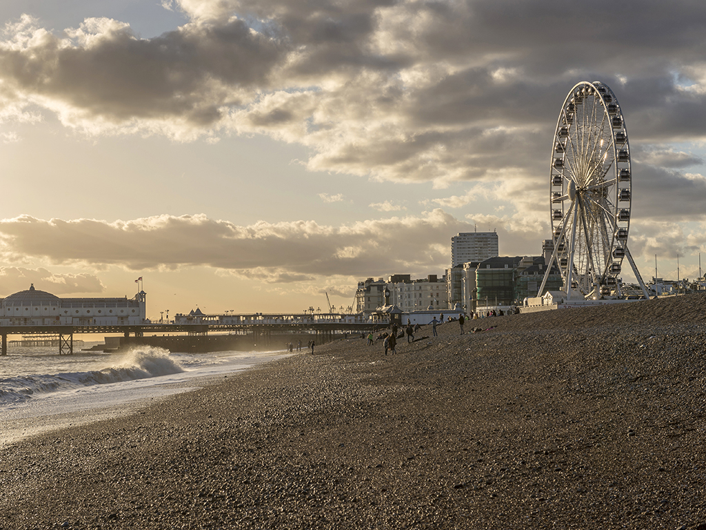 Storm Clouds over Brighton Pier & Wheel, Sussex