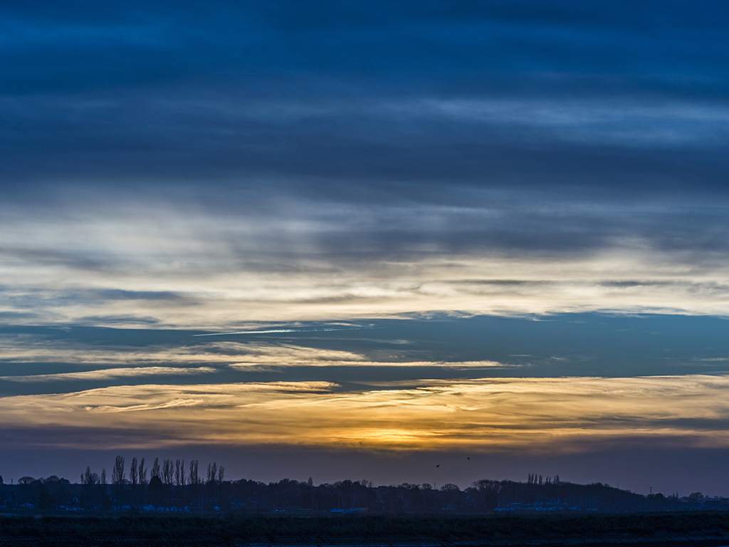 Sunset over Crouch Estuary, Essex