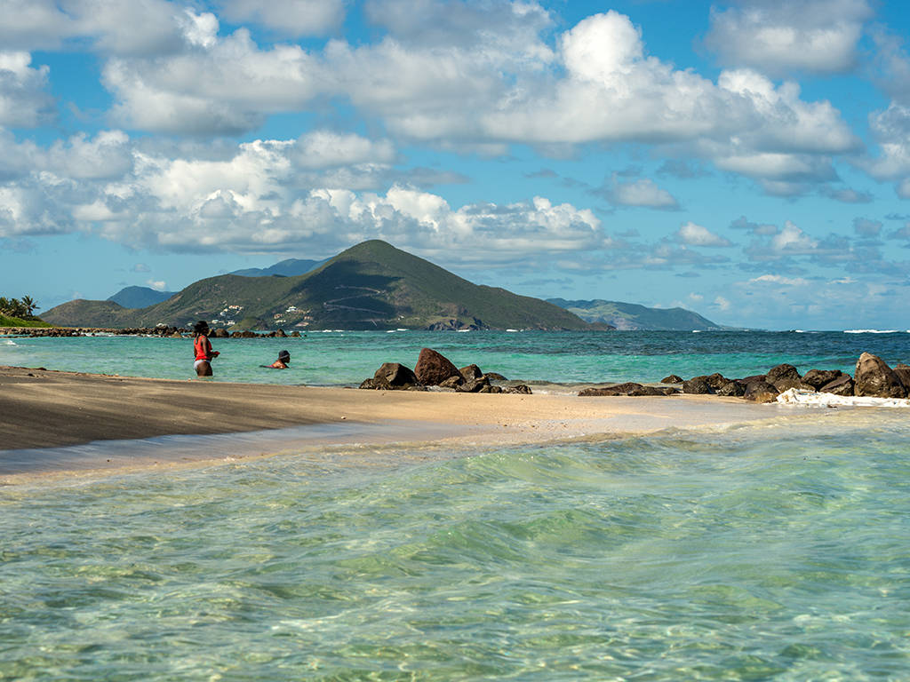 Long Beach, Newcastle Bay, Nevis, Caribbean
