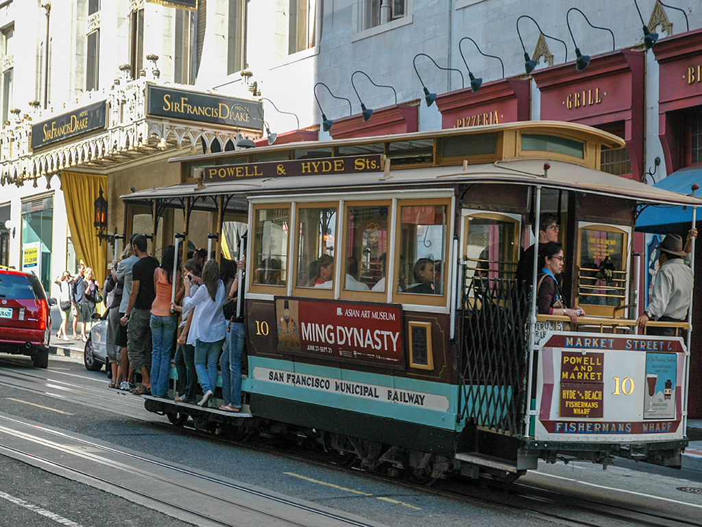 Tramline, Powell St, San Francisco, California