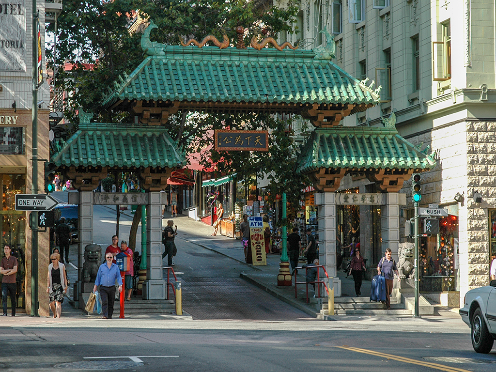 Gates to China Town, San Francisco, California