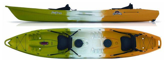 tandem kayak, touring kayak, sit on kayak, 3 person kayak