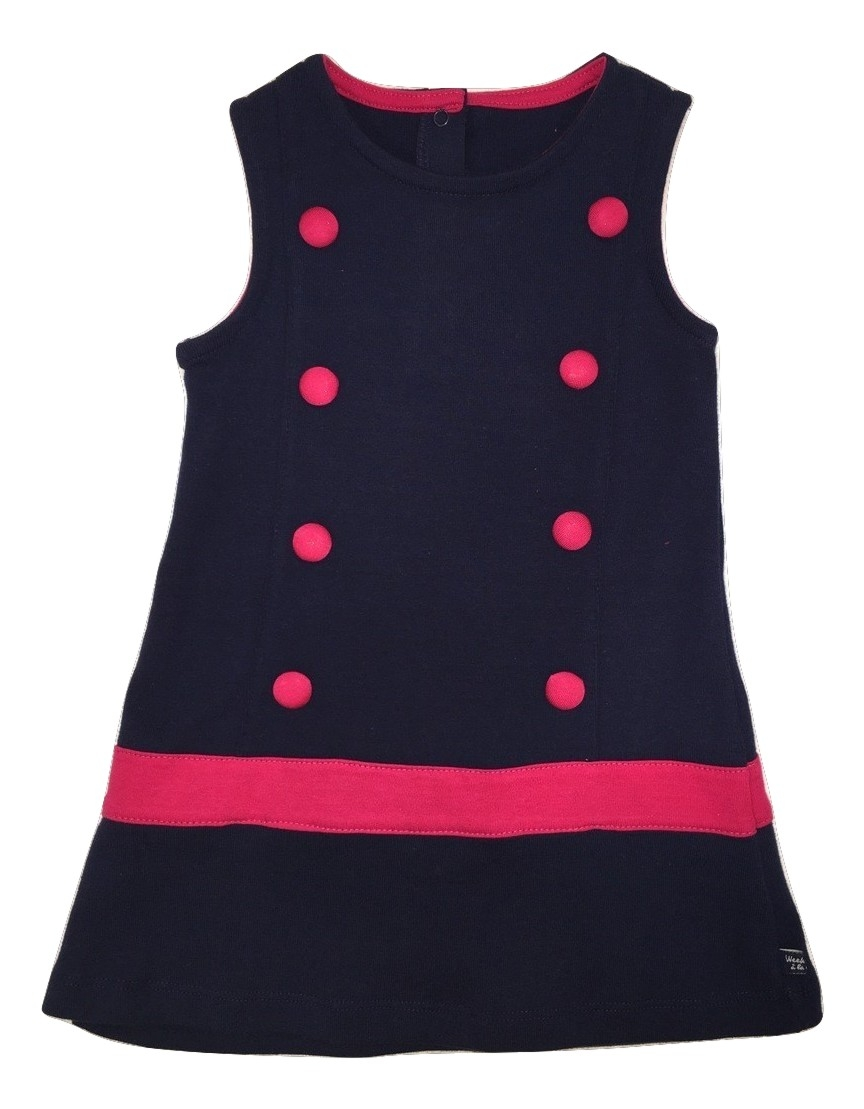 Weekend a la mer girls navy dress(SALE)