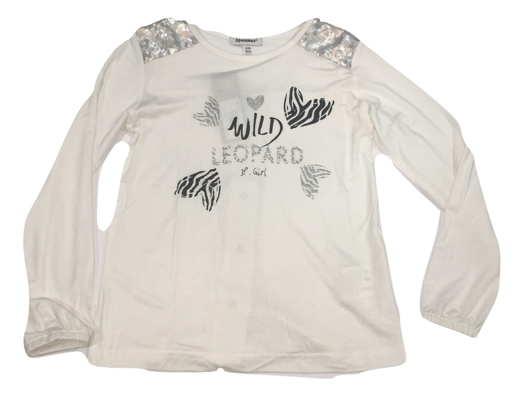 3pommes girls white t-shirt(SALE!)