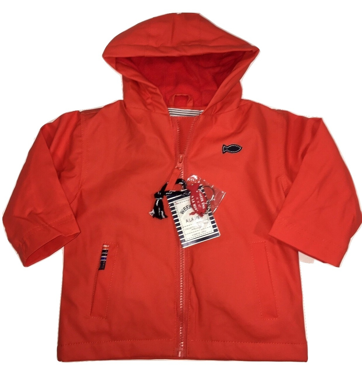 Weekend a la mer boys orange jacket