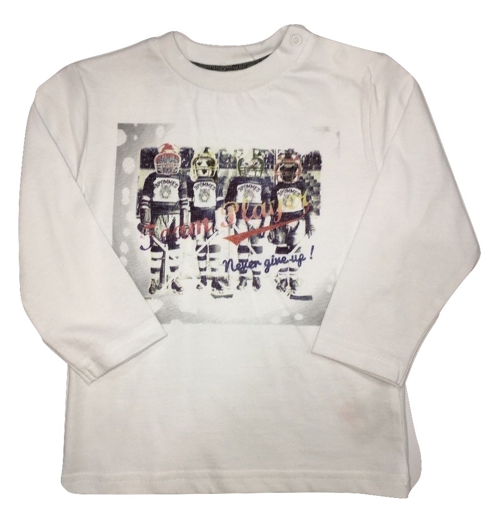 3pommes boys white t-shirt