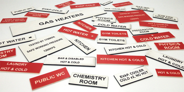 TechCon Engraved Plastic Labels