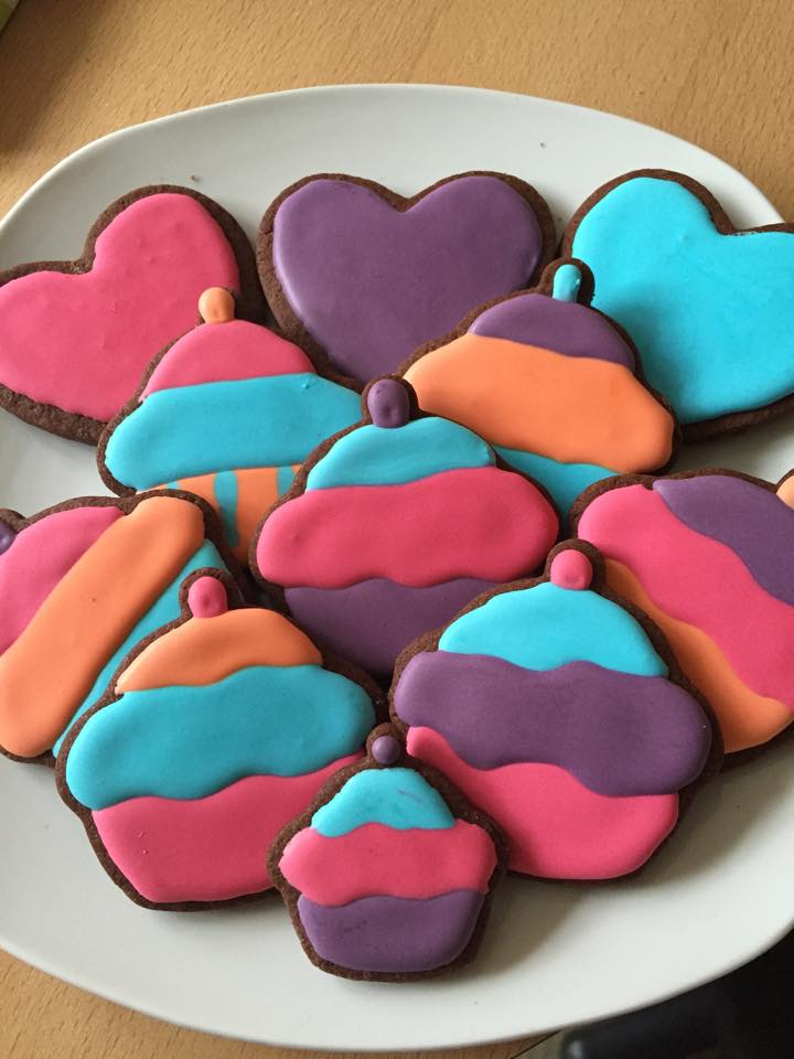 Hearts And Cupcake Biscuits