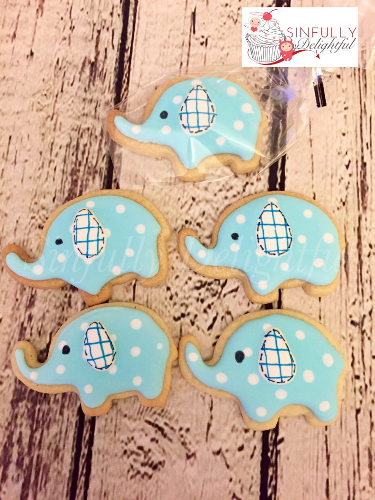 Baby Elephant Baby Shower Biscuits