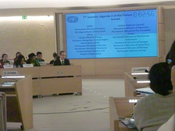 Compassion Group Network speaking at the United Nations.