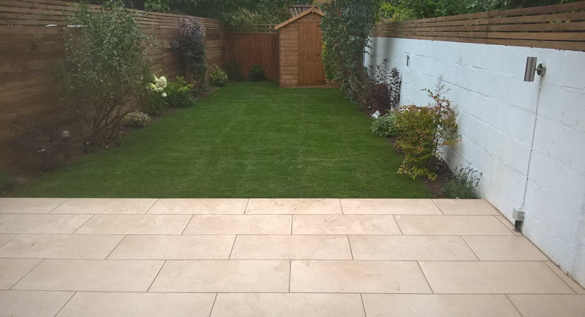Garden Design Enfield : Plants shed garden lighting project completed on