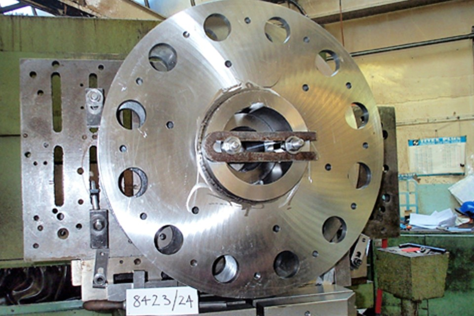 Large drilled concentric disk