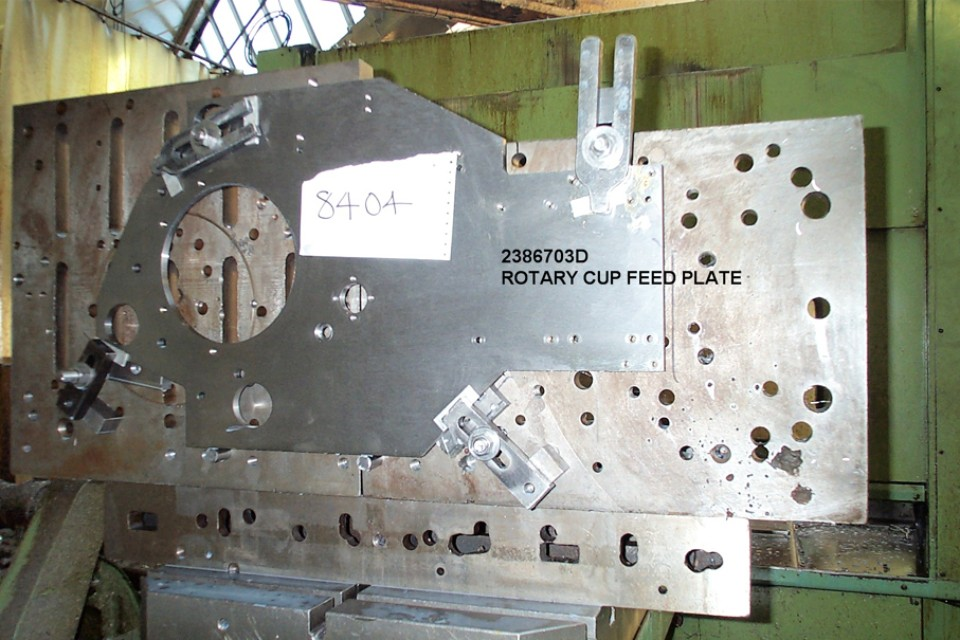 Rotary Cup Feed Plate