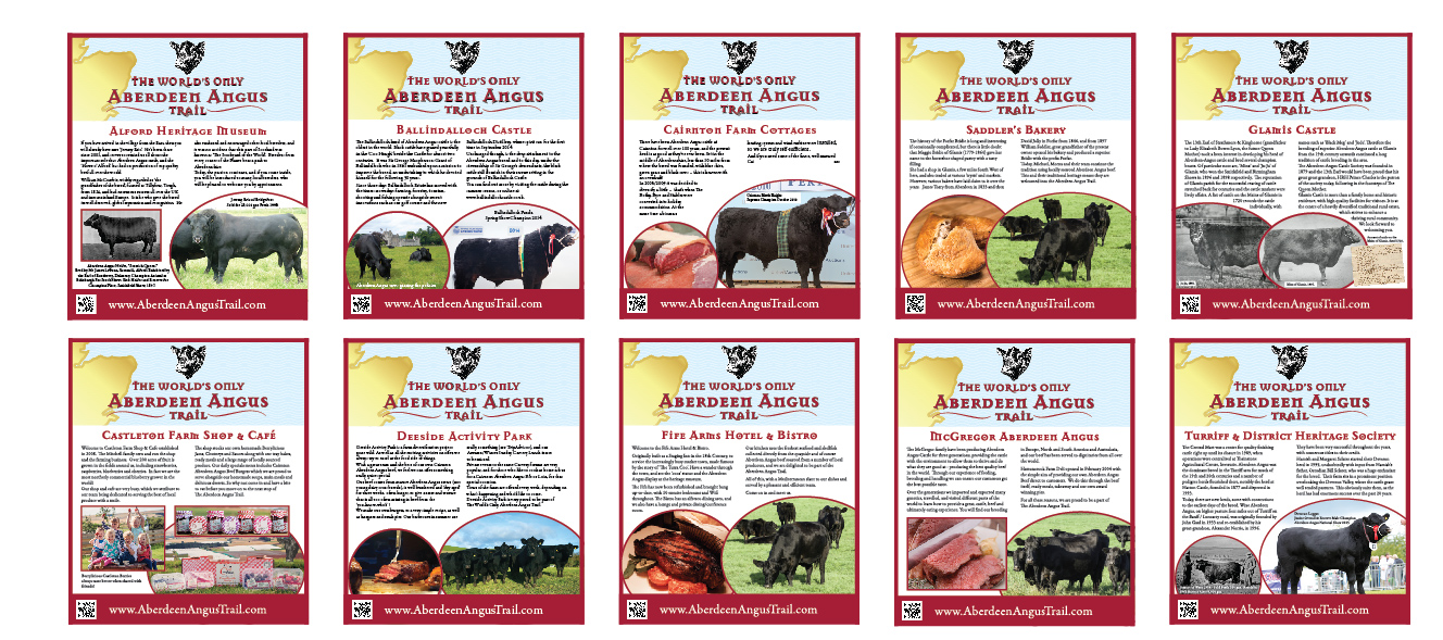 Aberdeen Angus Trail display boards