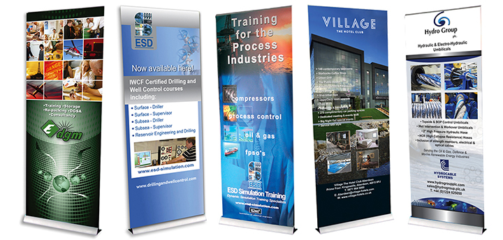 A wide variety of roller banners