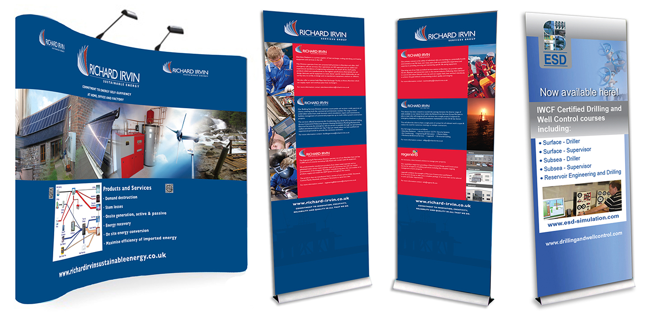 Richard Irvine Exhibition and ESD roller banner