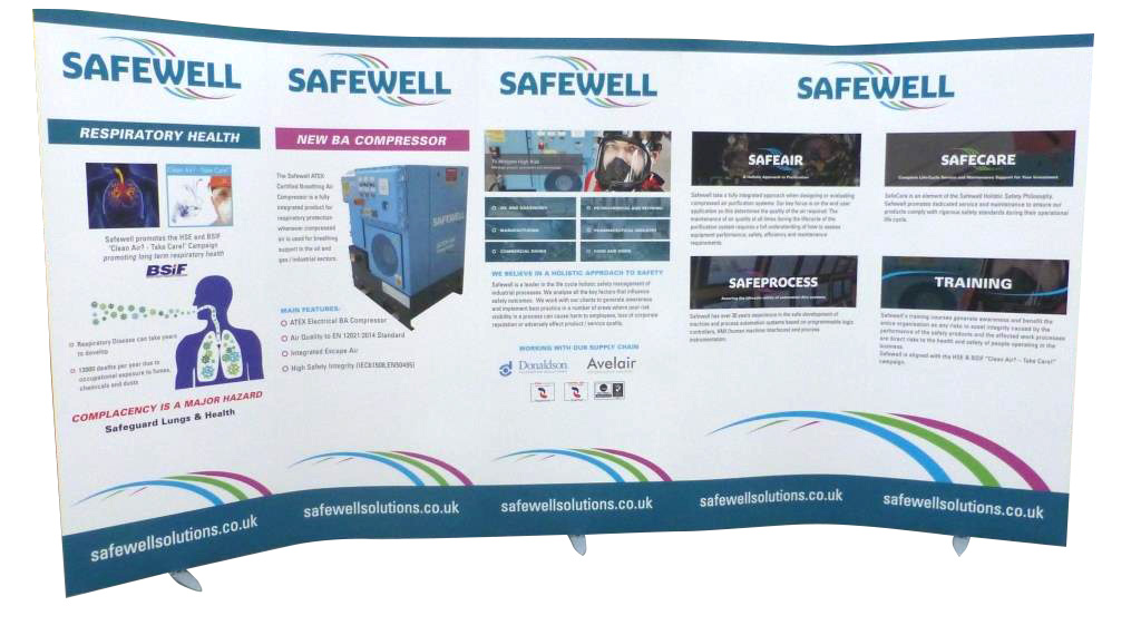 Ripple exhibition stand for Safewell