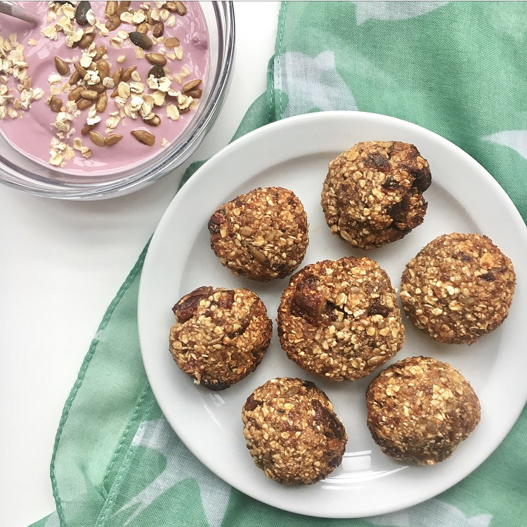 Cherry, date & seed bliss balls