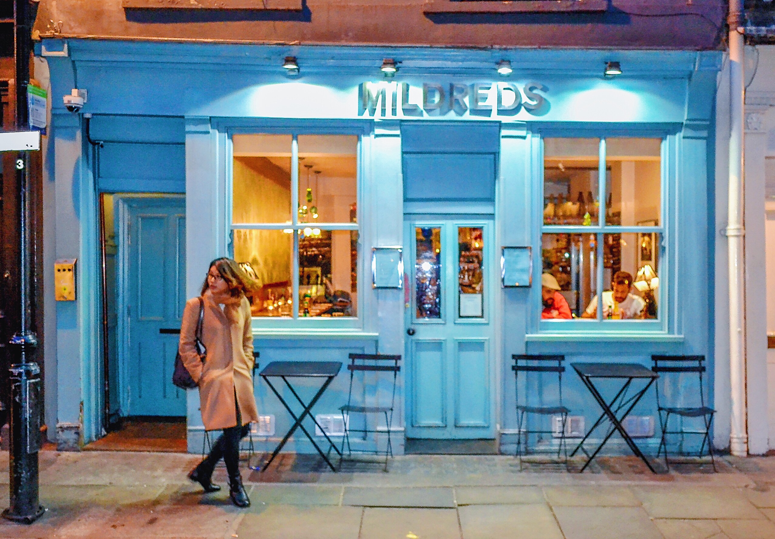 Dining at Mildreds, London Soho