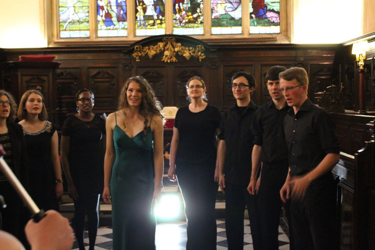 Oxford Singers performng for Ophelia music video
