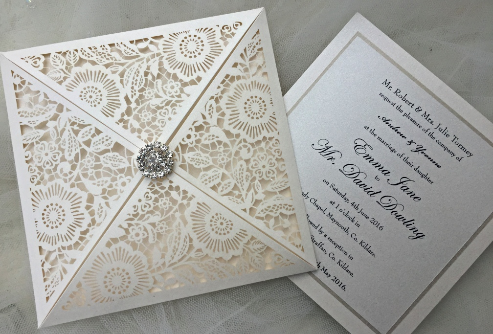 Helens paperie bespoke wedding stationery helens paperie are delighted to be showcase some of our new laser cut bespoke designs at the killashee hotel wedding showcase this evening 27th june 2016 stopboris Choice Image