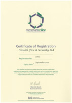Construction Line certificate
