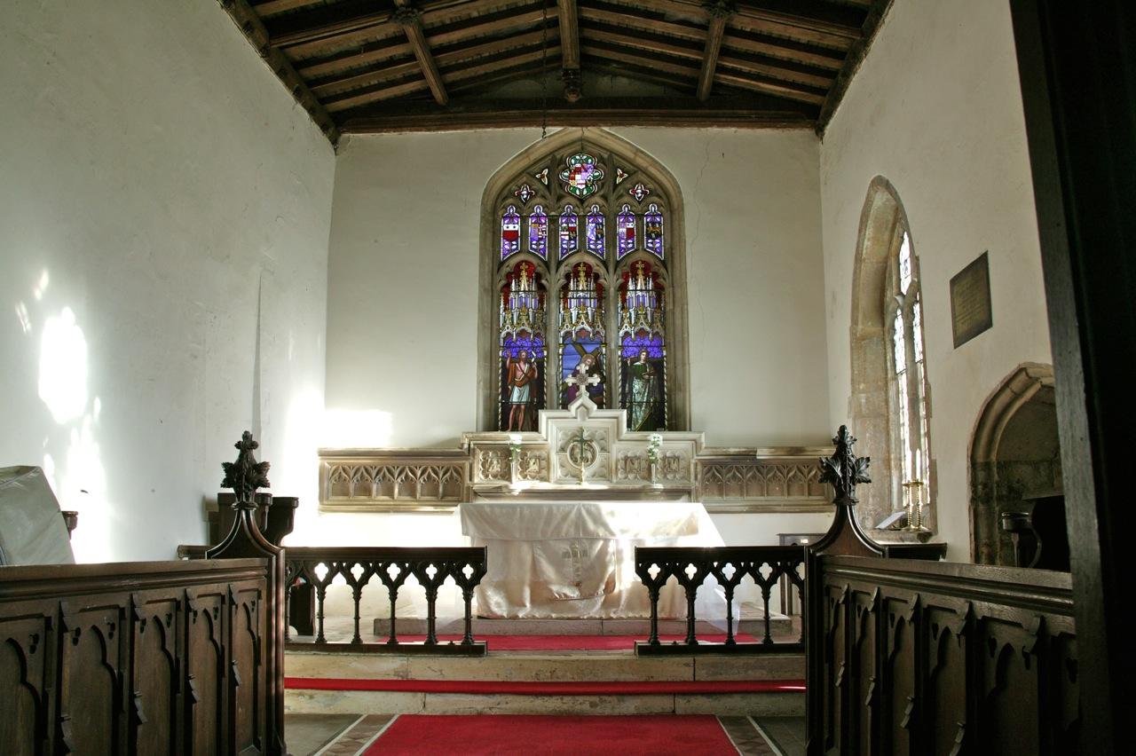 The altar, in the morning