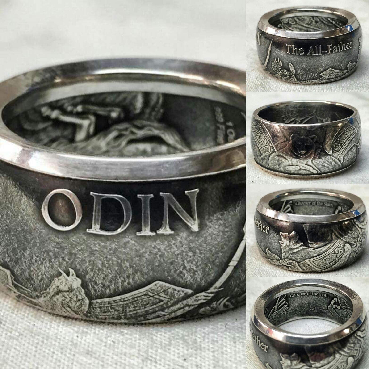 ringar av gamla mynt