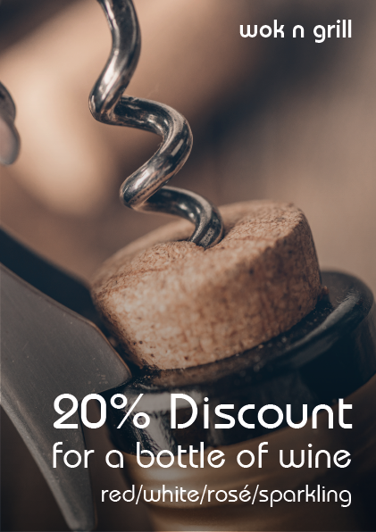 20% discount for a bottle of wine