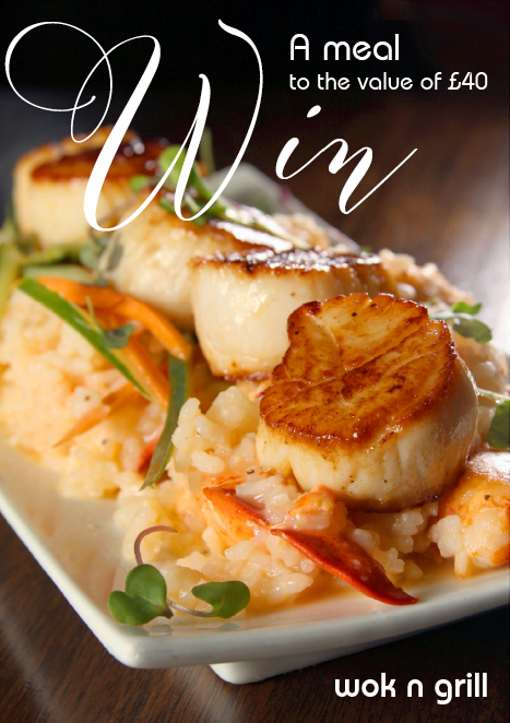 Join our monthly lucky draw to win a meal to the value of £40