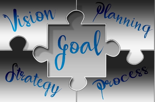 Image showing vision, goals and strategy to demonstrate the process taken in marketing planning, Lynden Consulting is a strategic marketing and communications company working with health and social care companies founded by Edna Petzen