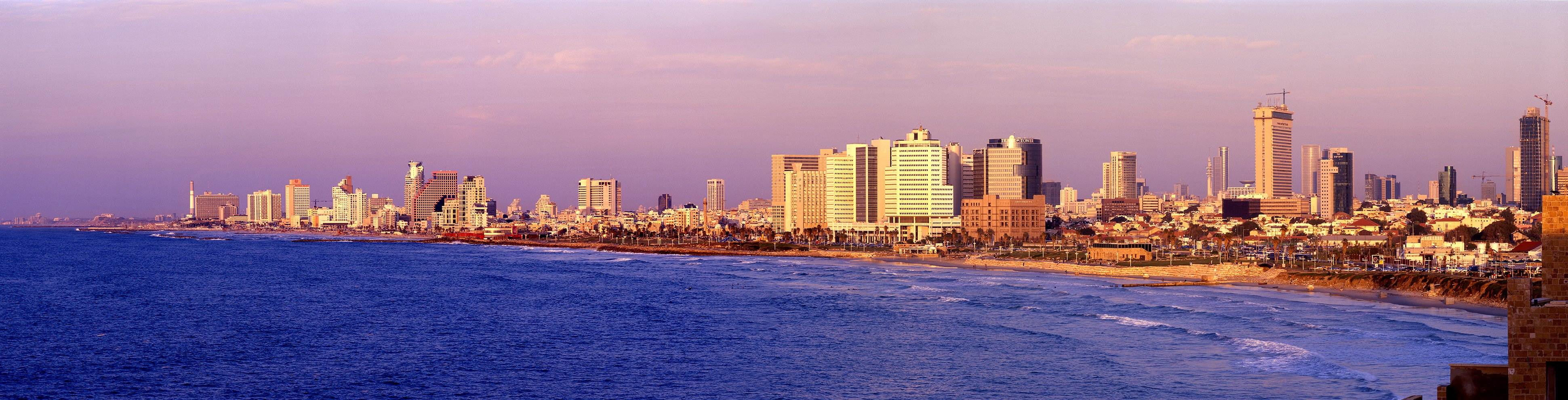 Tel Aviv cityscape and shoreline