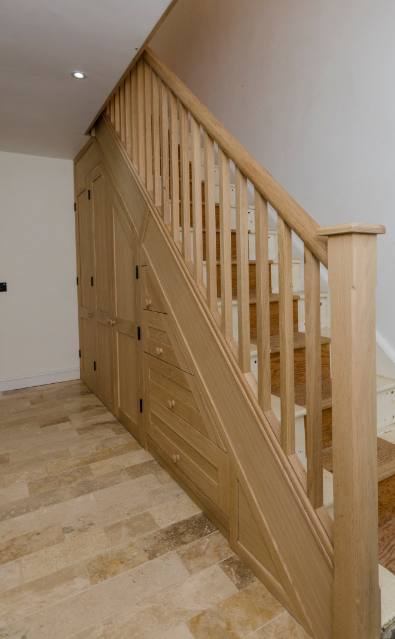 Oak Staircase Refurbishment, Full Renovation In Oiled Oak