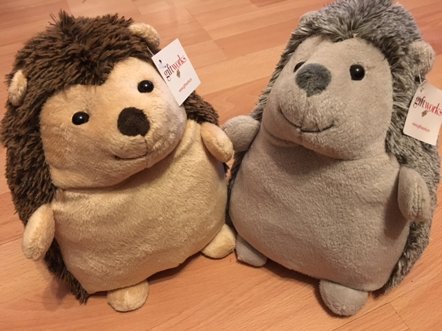 HedgeHog Door Stop - Brown or Grey