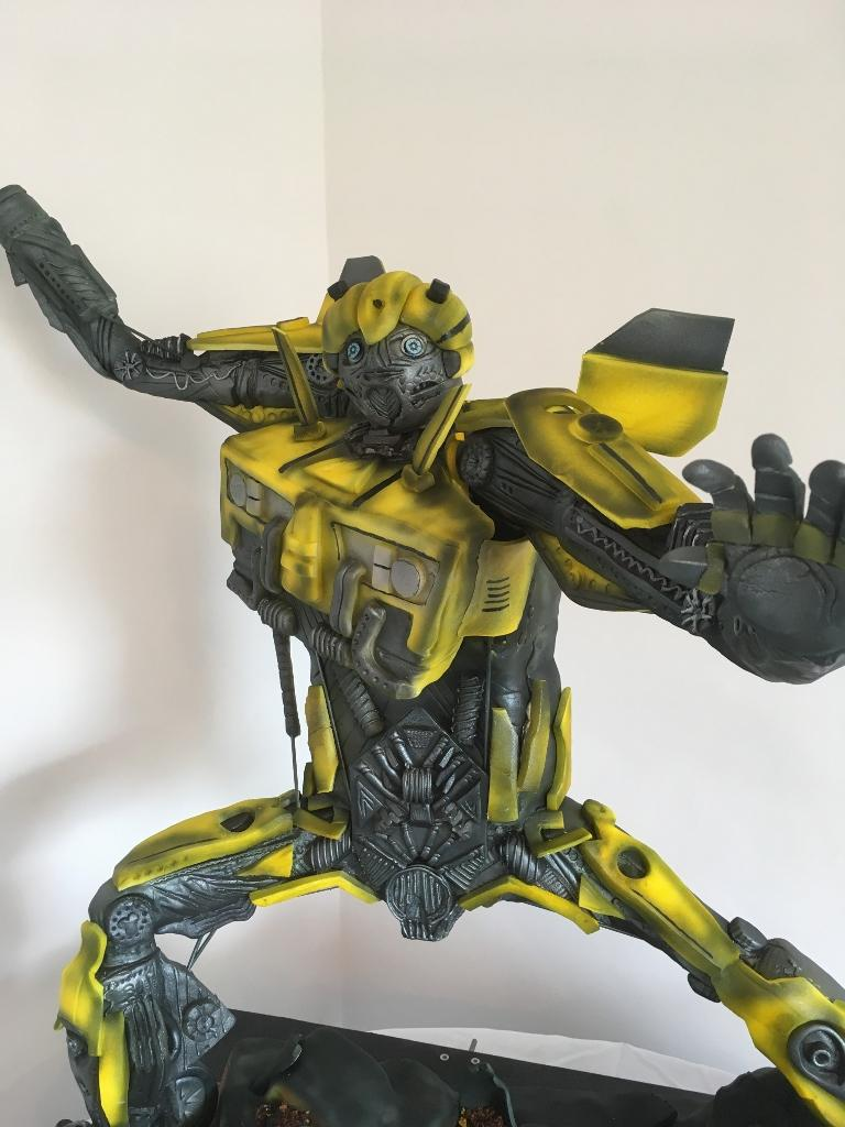 3D Transformers Bumblebee cake, 3 ft tall