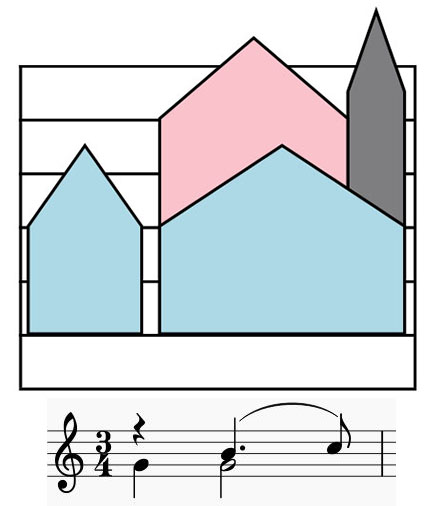 Colorsheetmusic two rhythm lines easy to see