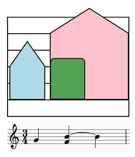 Colorsheetmusic tied notes notation