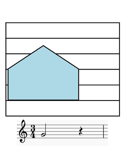 Colorsheetmusic rest note notation