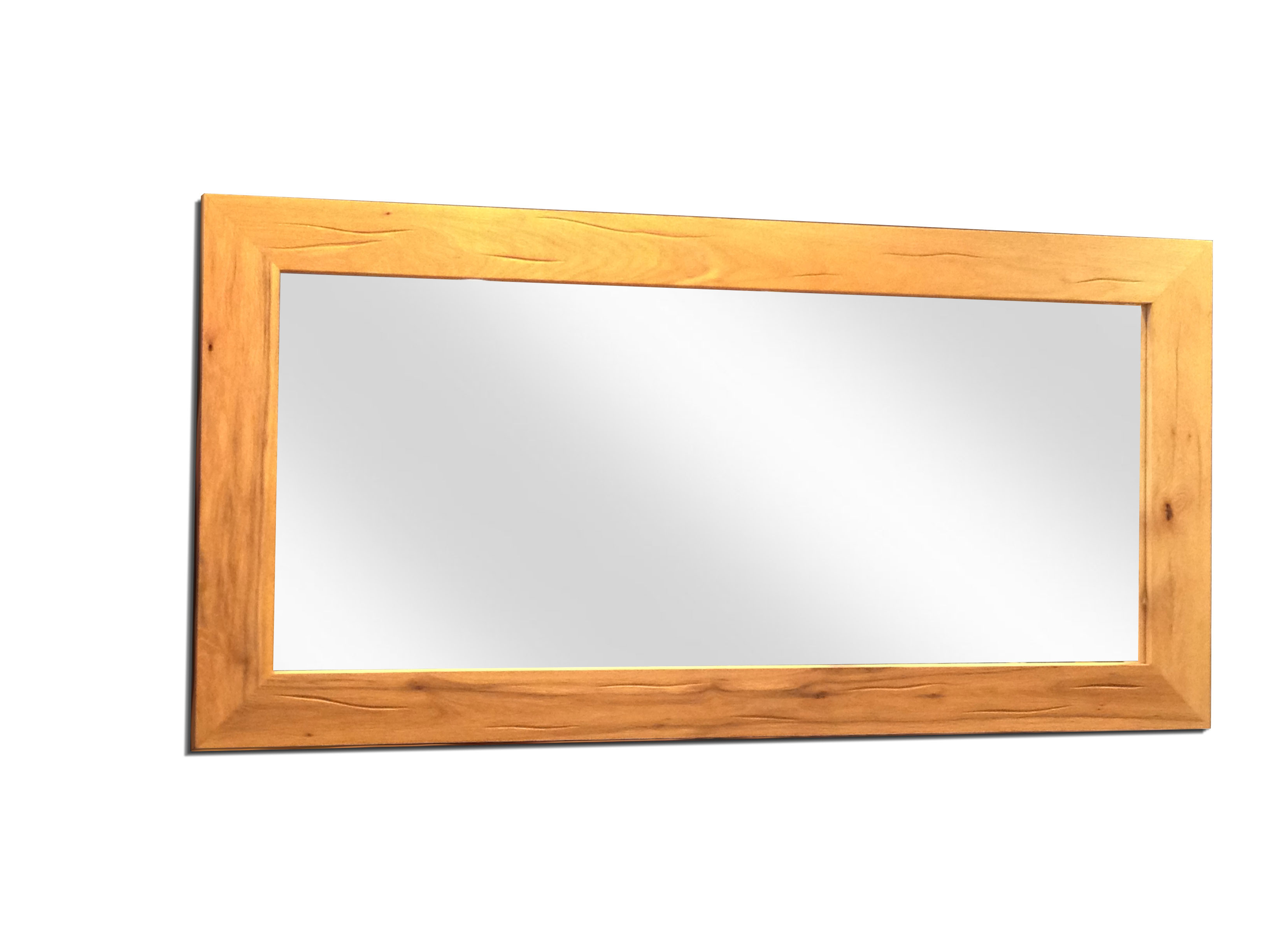 Cerris mirror with wooden frame