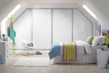 Sliding Wardrobes White Glass