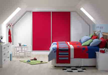 Sliding-wardrobes-angled-red-glass