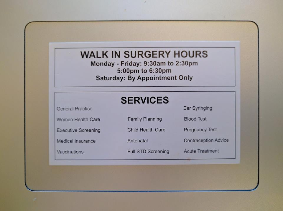 Full List of Services Provided