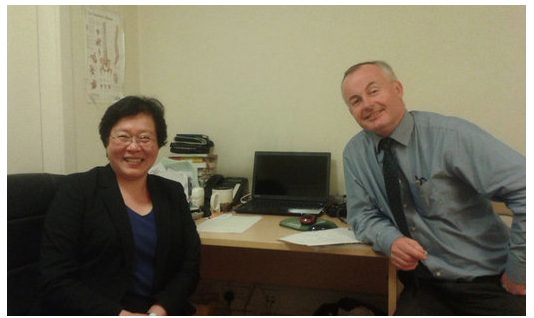 Dr Chii Chii Lee and Doctor Brendan O'Shea of ICGP