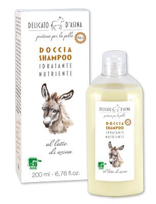 Doccia shampoo al latte d'asina