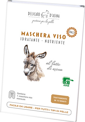 MASCHERA VISO BIO CON LATTE D'ASINA