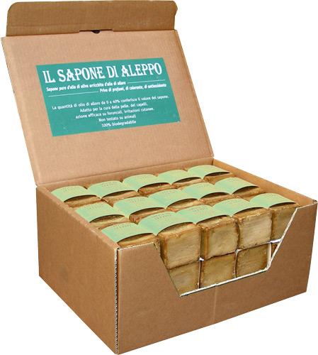 Expo sapone di aleppo  con il 16% di olio di alloro