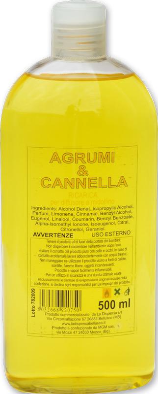 Ricarica profumatore per ambienti agrumi e cannella